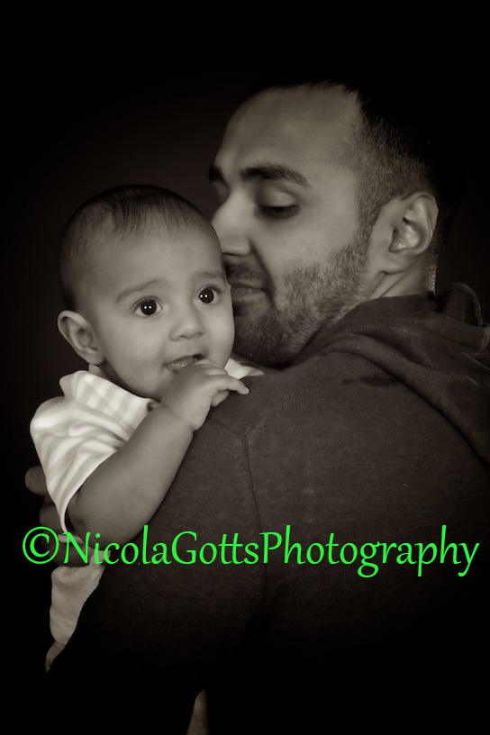 father and baby photographers Birmingham
